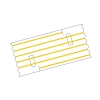 Mediloops mini gelb 1,5 x 1,0 mm (2 x 10 Stück) (Gefäß-Schlingen)