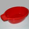 Waschschüssel mit Seifenablage rot