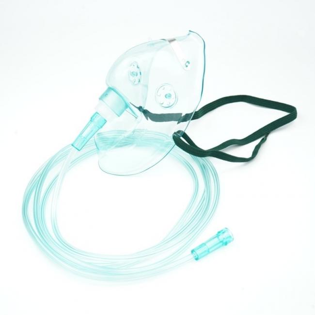 Sauerstoffmaske für Erwachsene mit 2,10 m Schlauch