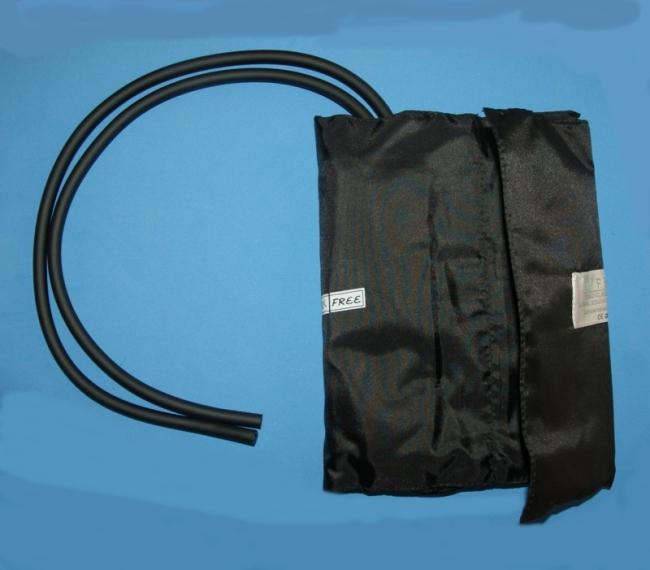 Klettmanschette für Oberschenkel mit Blase, 2-Schlauch, abwaschbar